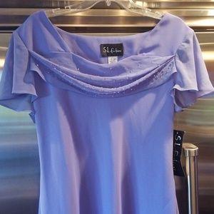 Lavender light wrought dress size 16